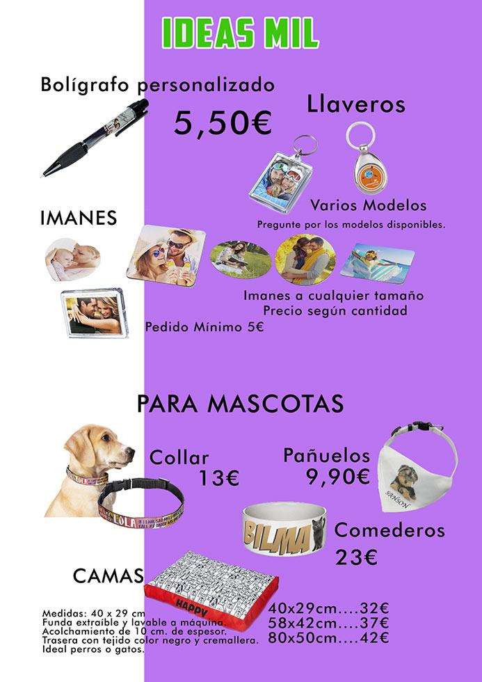 Bolígrafos, llaveros, imanes, para mascotas