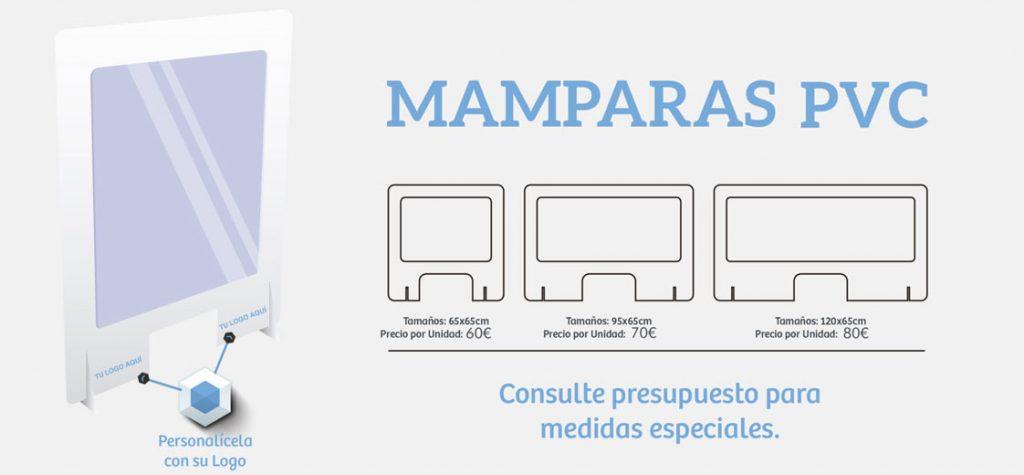 mamparas personalizadas pvc establecimientos COVID19